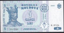Moldova 5 Leu 2009 P9f UNC - Moldavia
