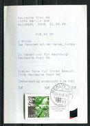 """Germany 1999 Postrarität Einkaufsquittungsbeleg Deutsche Post AG Mit Mi.Nr.2054 Und Tstp.""""1 Beleg - Post"""