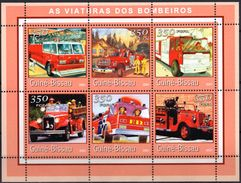 GUINÉ BISSAU 2001 - Camions Pompiers - 6 Val Neufs // Mnh - Guinée-Bissau