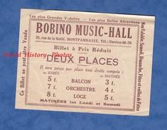 Ticket Ancien - PARIS Montparnasse - Bobino Music Hall - 20 Rue De La Gaité - Billet à Pris Réduit Deux Places Théatre - Toegangskaarten