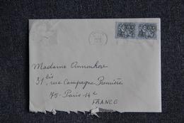 Lettre Du PORTUGAL Vers FRANCE ( PARIS) - Transport Maritime - Covers & Documents