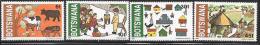 Botswana, Scott # 295-8 MNH Children's Drawings, 1982 - Botswana (1966-...)