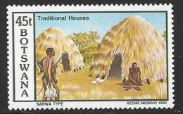 Botswana, Scott # 302 MNH Traditional Houses, 1982 - Botswana (1966-...)
