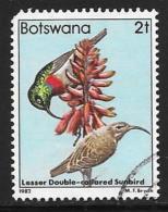 Botswana, Scott # 304 Used Bird, 1982, Round Corner - Botswana (1966-...)