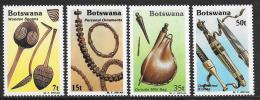 Botswana, Scott # 333-6 MNH Wooden Spoons, 1983 - Botswana (1966-...)