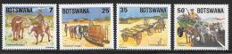 Botswana, Scott # 345-8 MNH Traditional Transport, 1984 - Botswana (1966-...)