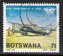 Botswana, Scott # 349 Used Airplane, 1984 - Botswana (1966-...)