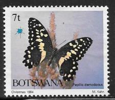 Botswana, Scott # 355 Unused No Gum Butterfly, 1984 - Botswana (1966-...)