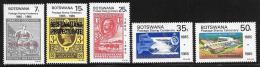 Botswana, Scott # 363-7 MNH Postage Stamp Centenary, 1985 - Botswana (1966-...)