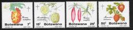 Botswana, Scott # 372-5 MNH Christmas, Wild Cucumbers, 1985 - Botswana (1966-...)