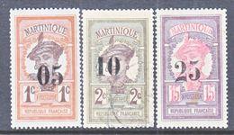 MARTINIQUE  105-7   *   (o) - Martinique (1886-1947)
