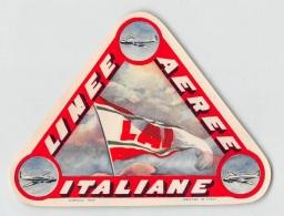 "07195 ""L.A.I. - LINEE AEREE ITALIANE"" ADESIVO PUBBLICITARIO ORIG. - Adesivi"