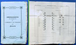 Regolamento Per L'esercizio E Le Evoluzioni Della Fanteria - Ed. 1838 - RARO - Documenti