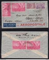 Brazil Brasil 1933 Airmail Cover AEROPOSTALE RIO To JELGAVA Latvia Latvija - Brésil