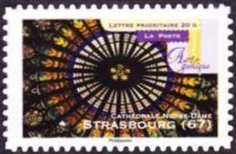 France Arts Autoadhésif N°  558,A ** Art Gothique  - Vitrail De La Cathédrale De Strasbourg - Vetri & Vetrate