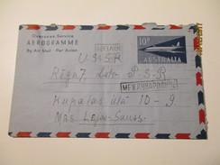 AUSTRALIA 1963   AEROGRAMME TO USSR RUSSIA  UNLEY ADELAIDE   ,0 - Aerogrammes