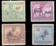 Congo 0159/61A* Surchargé  Type Vloors Et Leys - Congo Belge