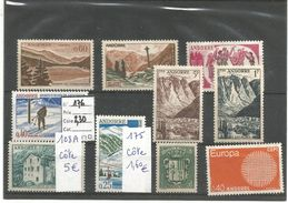 ANDORRE FRANCAIS LOT DIVERS TIMBRES - Stamps