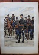 Stampa Le Uniformi Dell'esercito Francese 1935 Guardia Repubblicana Mobile 75 - Stampe & Incisioni