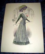 Stampa Litografia D' Epoca Originale - Moda Abiti Donna  B74 - 1900 Ca - Stampe & Incisioni