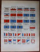Stampa Litografia - Le Uniformi Dell'esercito Francese 1935 Bandiera Stendardo 4 - Stampe & Incisioni