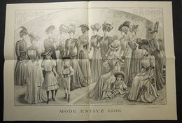 Stampa Litografia Moda Donna Figurino - Mode Estive 1906 - Stampe & Incisioni