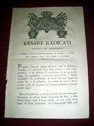 Regno Sardegna Torino Brosolo Decreto Per L' Osservanza Delle Feste Vigilie 1814 - Old Paper