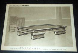 Pubblicità Biliardo Mod. Primato - Ditta Fratelli Della Chiesa Milano 1950 Ca - Pubblicitari