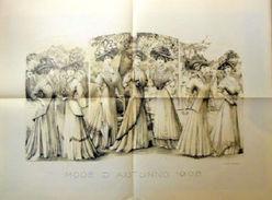 Stampa Litografia Moda Donna Figurino - Mode D' Autunno - 1908 - Stampe & Incisioni