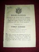 Regno Sardegna Torino Regie Patenti Grazie Condannati Reati Politici 1842 - Vieux Papiers
