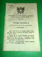 Regno Italia Regio Decreto Giurisdizione R. Consolato In Sarajevo (Bosnia) 1865 - Vecchi Documenti