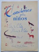 Musica Spartito - Canciones Para Ninos - Pianoforte E Canto - Old Paper