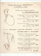 Publicité , Pomme Doucheuse  , Mantelet  ,  Paris ,  Uniface , Frais Fr : 1.45 E - Advertising