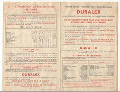 Publicité , DURALEX , 4 Pages, 2 Scans , 1959 ,  Frais Fr : 1.45 E - Advertising