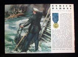 WWII Cartolina - Medaglie D' Oro Guerra 1940 - Baroni - Militari