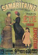 Grands Magasins A La Samaritaine Paris Été 1882 - Postcard Reproduction - Publicité