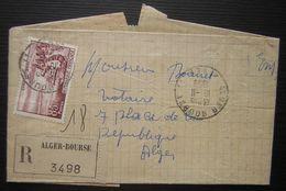 Alger Bourse 1959 (Algérie), Lettre Recommandée N° 3498 - Algeria (1924-1962)
