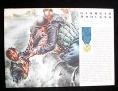 WWII Cartolina - Medaglie D' Oro Guerra 1940 - Modugno - Militari