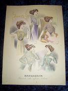 Stampa Litografia D' Epoca Originale - Moda Abiti Donna A65 - 1900 Ca - Stampe & Incisioni