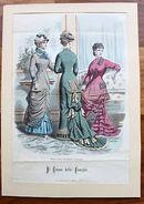 Stampa Costumi Moda Abbigliamento Donna - Milano - 1879 - Stampe & Incisioni