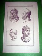 Stampa Incisione Mitologia - Sofocle Socrate Silla ( Incisore Bernieri ) 1700 Ca - Stampe & Incisioni