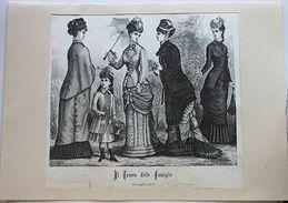 Stampa Costumi Moda Abiti Donne Ragazza  - Milano - Luglio 1879 - Stampe & Incisioni
