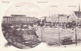 ALTE  AK   LEIPZIG / Sachsen  - Augustusplatz Mit Strassenbahn - 1905 Ca. - Leipzig