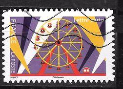 FRANCE Adhesif Oblit LA FËTE FORAINE 1437 GRANDE ROUE - Adhesive Stamps