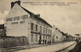 CPA RARE PENCHARD HOTEL DU CHEVAL BLANC CAFE RESTAURANT - Autres Communes