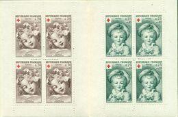 FRANCE CARNET + ROUGE 1962 Nxx  ENFANTS  FRAGONARD TB.cote : 47 € - Markenheftchen