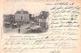 C P A 27 Eure Routot Le Marché Aux Porcs 1903 L'hôtel De Ville Carte Animée - Routot