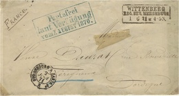 1871 War -   FRONT Of Cover  From WITTEMBERG   To Périgueux ( France ) - Saxony