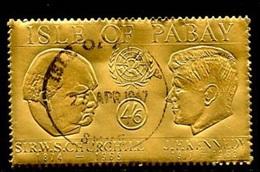 Pabay - Grande Bretagne 1967 N°(38) (o) - 4/6 Churchill Kennedy Or - Emissions Locales