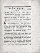 12 Nivose 1793/n°2087 * DECRET DE LA CONVENTION NATIONALE * RELATIF AUX DROITS FEODAUX - Zonder Classificatie